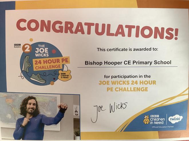 Children in Need Joe Wicks PE Challenge