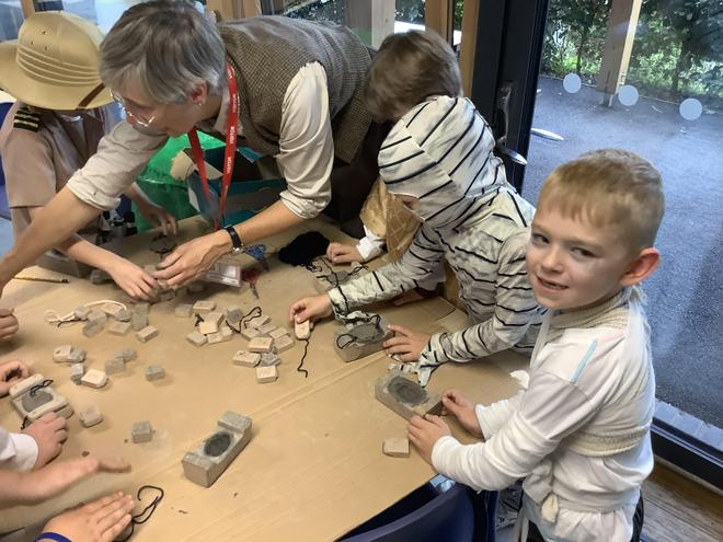Making scarab beetle cartouches