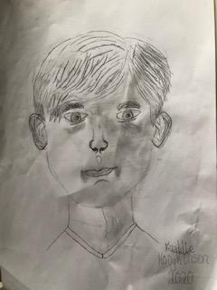 Wow Freddie! A great portrait, I love your use of shading to add detail!