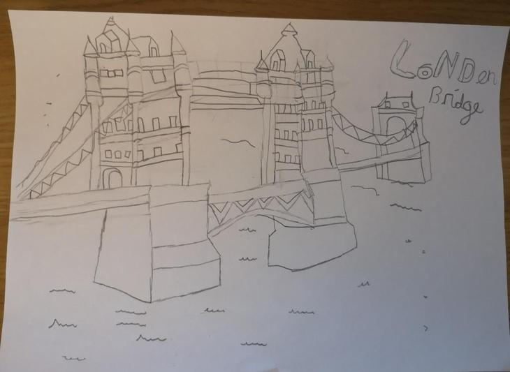 As well as a comprehension exercise, Liam has also done some drawing today - Wow Liam, that is very impressive!!