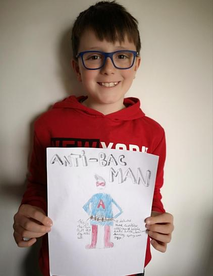 One of Liam's tasks today was to draw himself as a superhero - A great idea and imagination Liam!