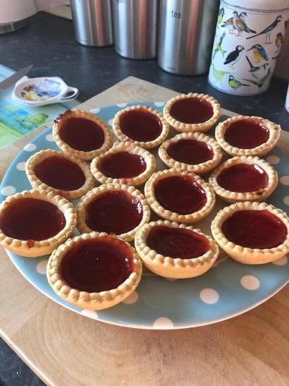 Delicious tarts made by George