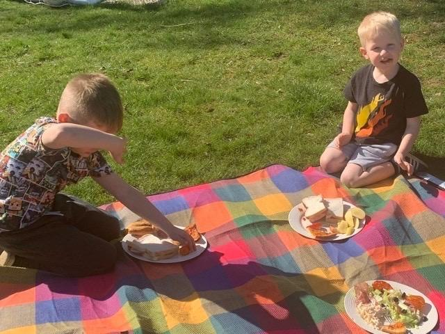 A delicious picnic lunch in the sun