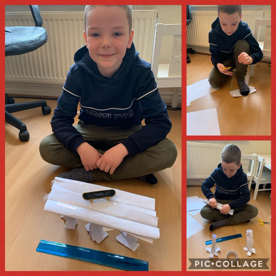 Ethan enjoyed this challenge! It took some changes to the bridge idea and lots of perseverance but it worked in the end! - Great work Ethan, I am very impressed!