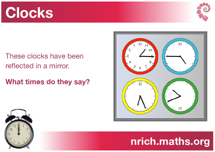 Can you work out the times? A PDF is available below.