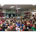 Whole school assembly including the parents.