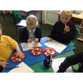 Food tasting for our healthy eating project.
