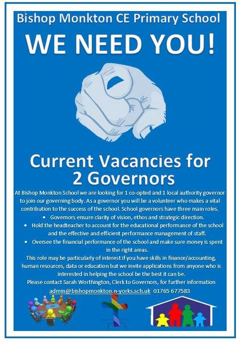 Current Vacancies for a co-opted and local authority governor.