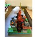 Luke's Lego Volcano