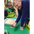 Mr Giles got very brave!