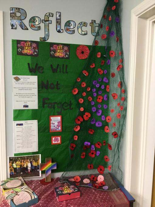 The children decorated poppies and we reflected on why we wear a poppy
