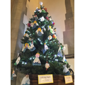Owls & Kingfishers Angels displayed in Church