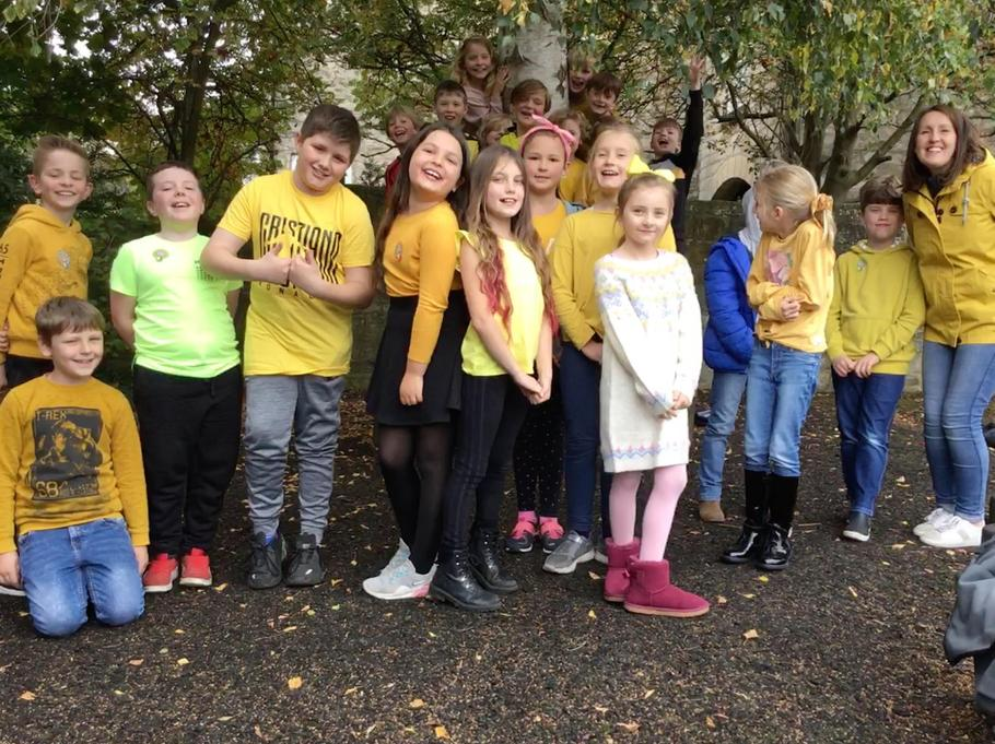 We dressed in yellow to raise funds for Young Minds #HelloYellow2020