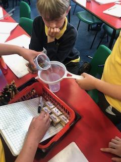 Sieving the liquid carefully.