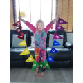 Kayleigh made bunting for Hargreaves Class
