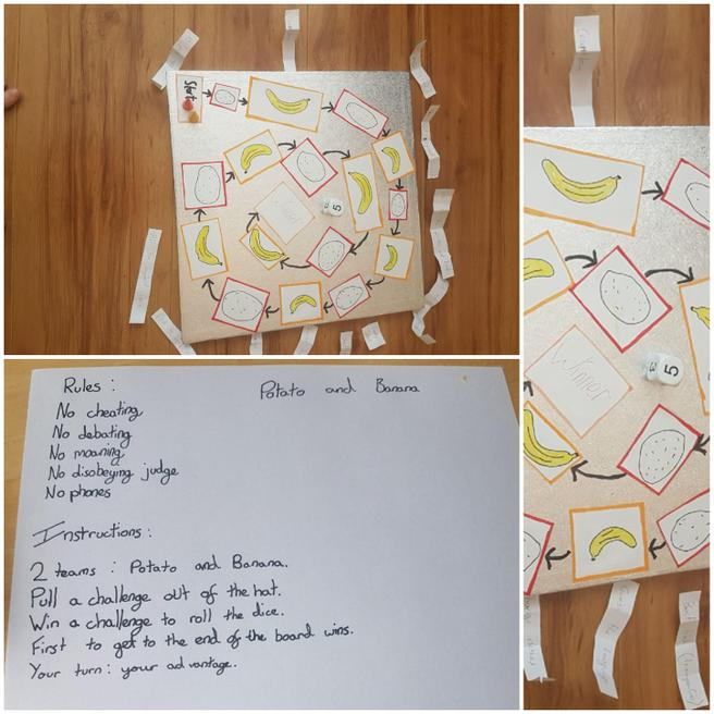 And designed his own food-themed board game!