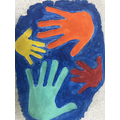 Henry's lockdown handprints in salt dough