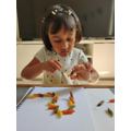Making a worm using pasta
