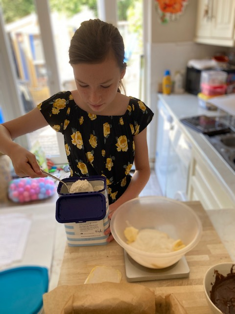 Lilly busy cooking!