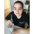 Ines tweaked the recipe for her smoothie - looks great!