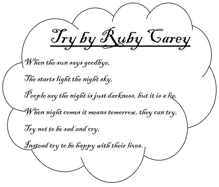 Ruby's thoughtful poem.