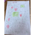 Ivy's birthday picture to Captain Tom