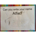 I can write my name all by myself