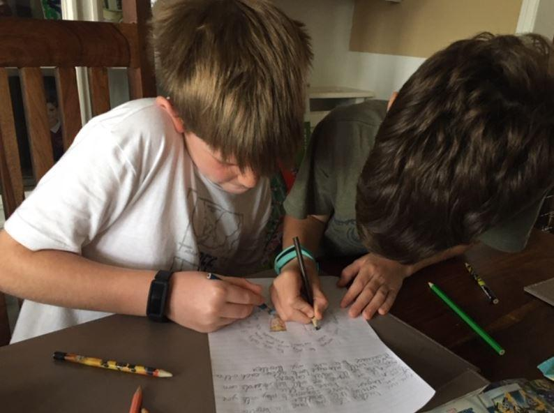 Jacob helped his brother to write a poem!