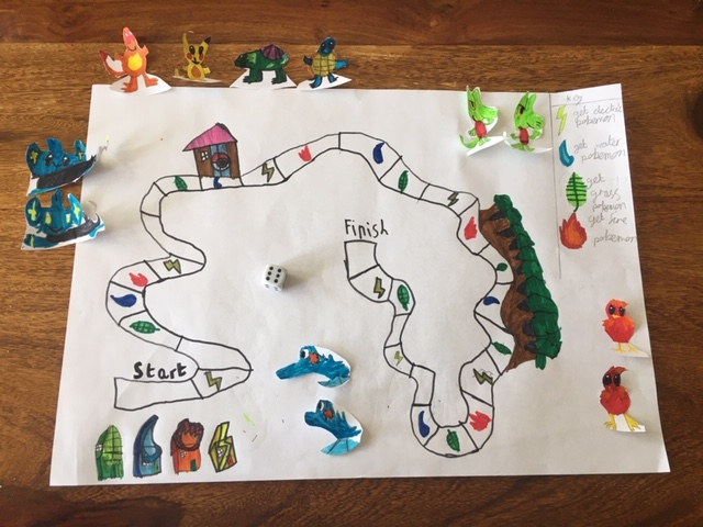 And made his own board game!