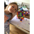 Ida has made an Elmer the elephant