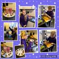 Grace had fun making her snacks!