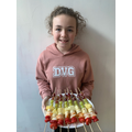 Sophie has made rainbow fruit kebabs - what an effective idea!