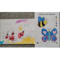 Ladybird speech bubbles and maths work
