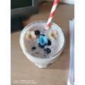 Elena made a very pretty looking smoothie!