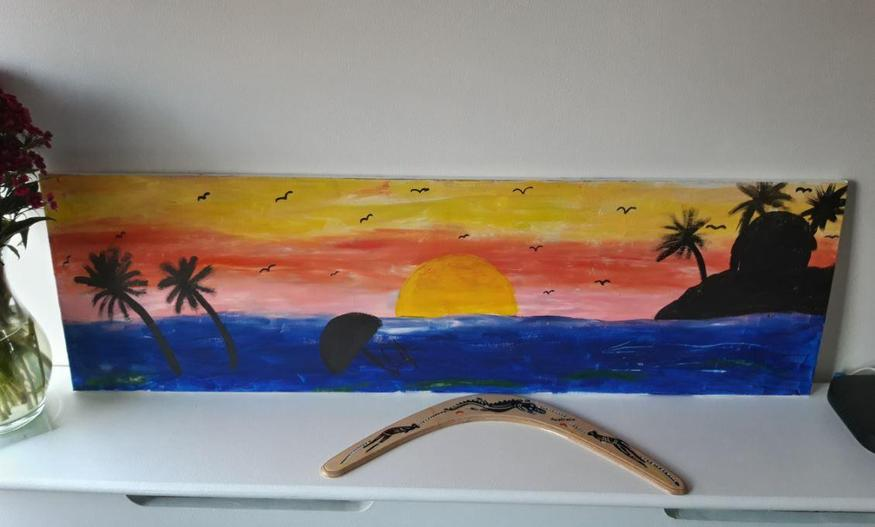 Tilly painted this stunning canvas!