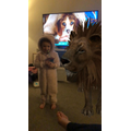 There's a lion in the house!