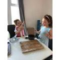 Having fun cooking