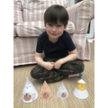 Elliot has made 'cone' Easter characters