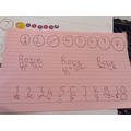 Numbers and name writing