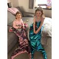 Dressing up as Mermaids