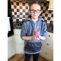 Gratian made a fruity smoothie which looks delicious!