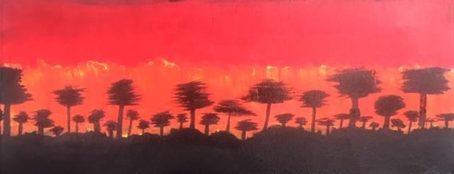 Grace painted her favourite times of day. 1 Sunset