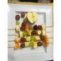 Roshan made some lovely fruit kebabs!