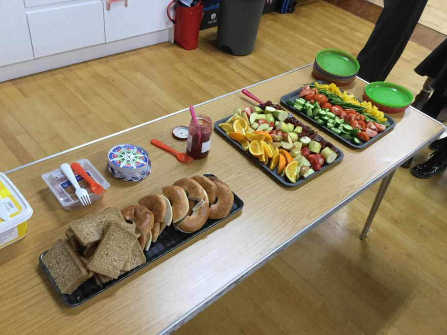 Our delicious snack table!