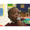 Singing a song