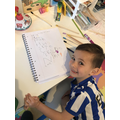 Ernie has been busy writing his number words!