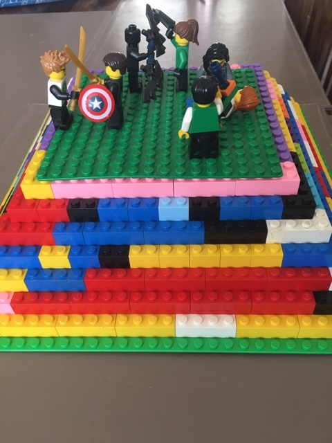 Jacob used Lego to make a scene from Percy Jackson