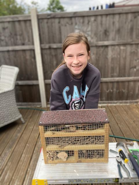 Lilly has built a bug hotel!