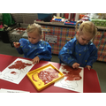cork painting our brown bears