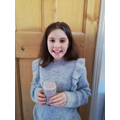 Milly has made a delicious smoothie!